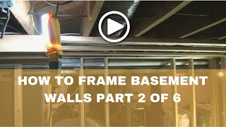 How-to Frame a Basement(How to layout basement walls) Part 2 of 6