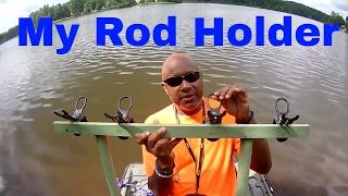 Cam's Crappie Hole(PART 2) ROD HOLDER & FISH FINDER TUTORIAL)