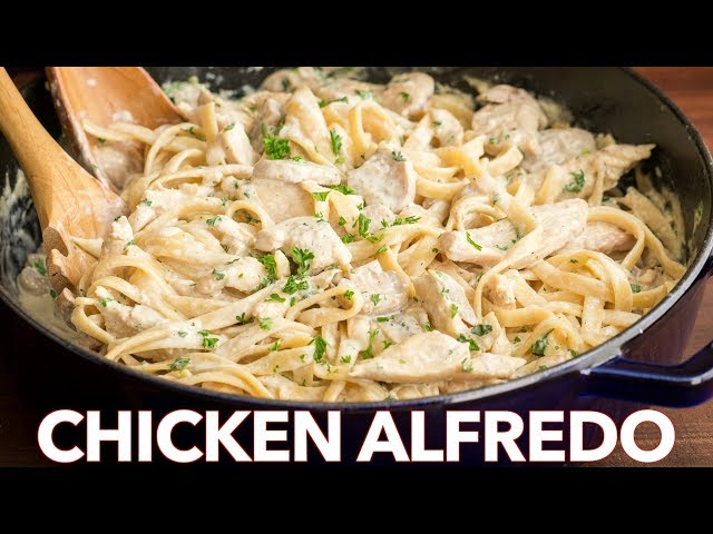Chicken Fettuccine Alfredo Recipe - Easy Dinner