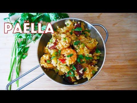 paella espagnole au poulet et crevettes