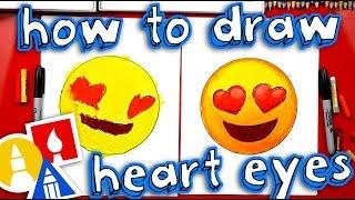 How To Draw Heart Eyes Emoji 😍