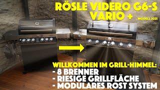 Rösle Videro G6-S Vario + Modell 2021- Aufbau und erster Eindruck des neuen Gasgrills - deutsch