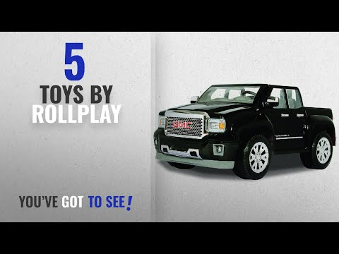 Top 10 Rollplay Toys [2018]: Rollplay GMC Sierra Denali 12-Volt Battery-Powered Ride-On, Black