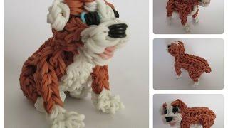 Rainbow Loom english bulldog - RUBBLE puppy Part 2/2 Loombicious