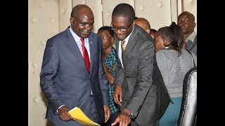 Raila Odinga claims that IEBC CEO Ezra Chiloba is back to the office