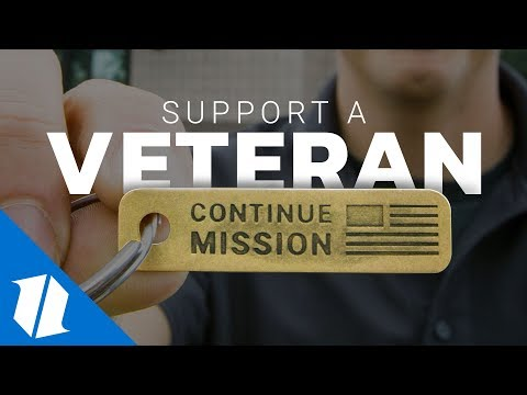 Continue Mission Veteran Brass Tag Keychain