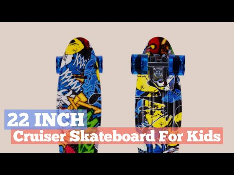 22 Inch Cruiser Skateboard For Kids // Kids Boys Youths Collection