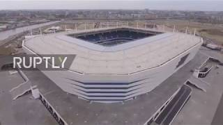 See drone footage of Kaliningrad stadium in run up to FIFA WC