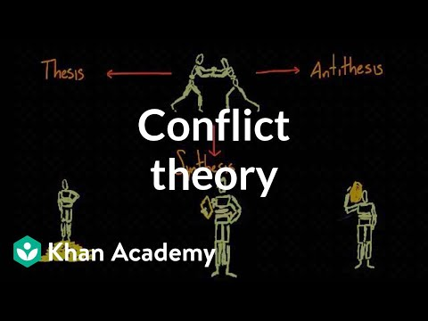 Conflict theory (video) | Social structures | Khan Academy