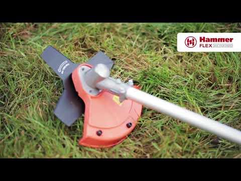 Триммер бензиновый Hammer Flex MTK33LE  33куб.см. 1,6л/с., леска 2,4мм.+ нож