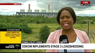 Power Utility Crisis | Eskom Implements Stage 2 Loadshedding