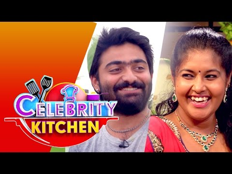 actress vinitha and actor maanas in celebrity kitchen 21 06