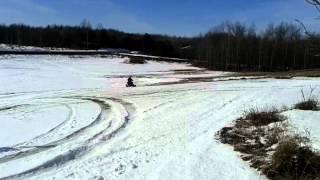 400ex CR500 quad in snow