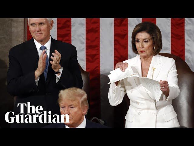 Nancy Pelosi rips up State of the Union speech after Donald Trump snubs handshake