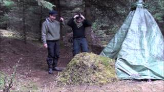 Overnight In A Tipi Shelter/Building A Stone Fireplace