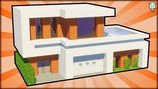 Tuto Maison Moderne Facile à Faire Minecraft самые