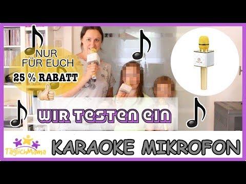 Wir testen ein KARAOKE-MIKROFON & 25 % RABATT für EUCH!!! / Täglich Mama