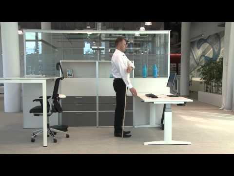 Ergonomie - Bürotisch einstellen - Haworth