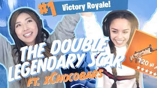 Duo Win with xChocoBars! - Valkyrae Fortnite