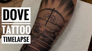 Dove Tattoo Time-lapse