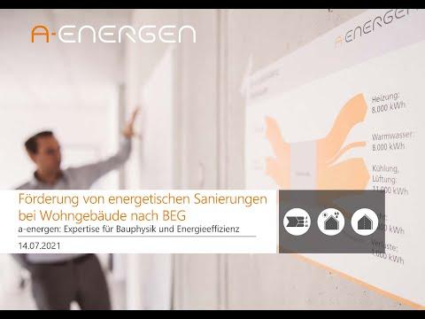 Förderung von energetischen Sanierungen bei Wohngebäuden nach BEG