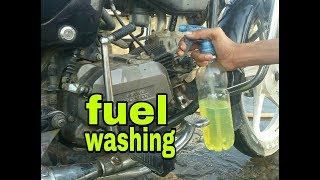 Fuel washing /for Extra shining/in your bike /by Akram. modifications/