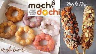 #mochidochi #mochidonut #mochidog Mochi Dochi Yummy Mochi Dog and Mochi Donut in Sawtelle