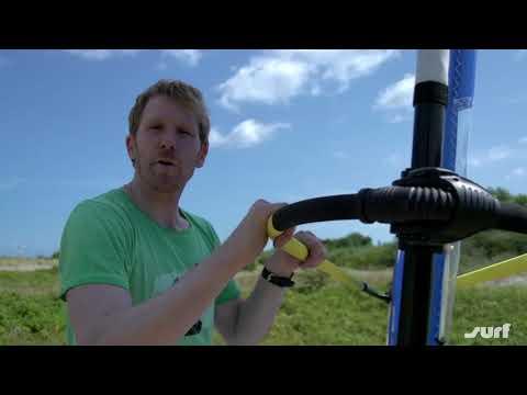 Segelsteuerung beim Windsurfen