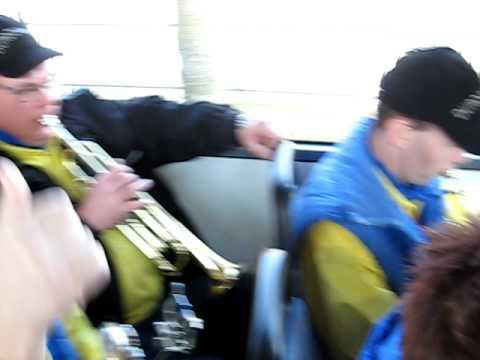 De durdouwers uit Sint Agatha op weg naar Middelaar