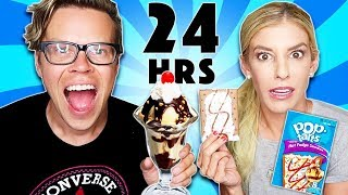 We Only Ate Pop Tarts Vs. Real Food for a day!  (24 hour challenge)