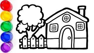 Cara Menggambar dan Mewarnai Rumah untuk Anak   How to Draw and Color a House