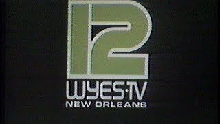 WYES New Orleans, La. End Of Broadcasting Day Sign Off 1984