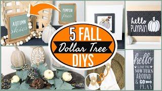 DIY DOLLAR TREE FALL DECOR 2020 - FARMHOUSE AUTUMN DOLLAR TREE DIYS