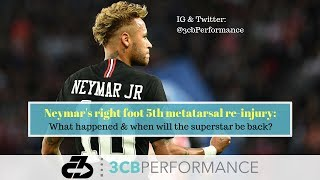 Neymar's right foot 5th metatarsal reinjury: What happened and when to expect him back