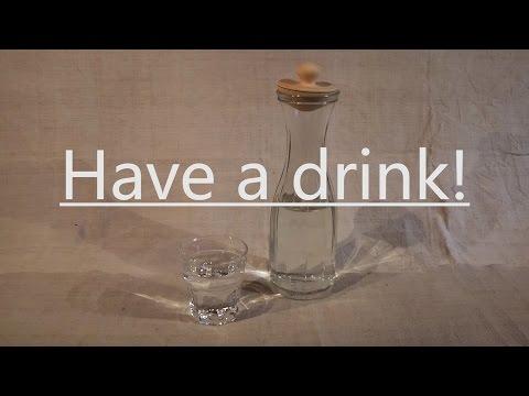 Zirbenverschluss für eine Glaskaraffe drechseln