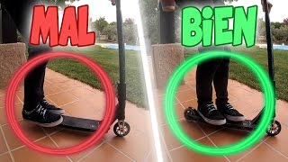 COMO ANDAR EN SCOOTER (COLOCAR PIES + GIROS) | TUTORIAL