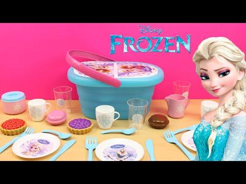 Cesta de picnic de FROZEN | Juguetes de Frozen en español | Las bebés se van de picnic