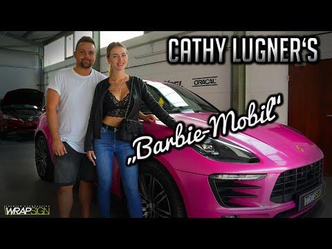 "Porsche Macan S glitzert Pink   Cathy Lugners ""Barbie-Mobil"""