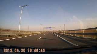 preview picture of video 'Современная скоростная автотрасса Калининград - Зеленоградск, четырёх полосная скоростная'