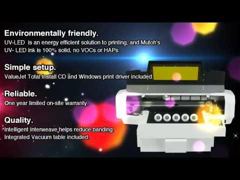 Mutoh ValueJet 626UF UV Flatbed Printer
