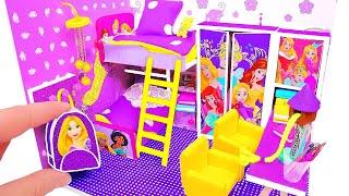 DIY Miniature Dollhouse ~ Rapunzel Room Decor, Backpack