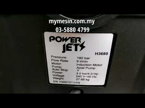 High Pressure Cleaner H3680 (180 bar)