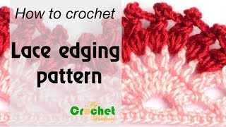 How to crochet Lace edging pattern - Free crochet pattern