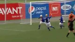 Смотреть онлайн Как исландские футболисты празднуют гол