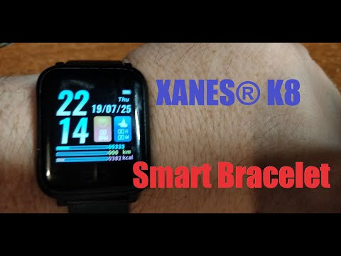 XANES® K8 Smart Bracelet - UNBOXING/REVIEW (by Banggood)