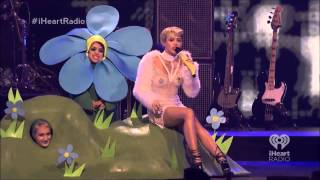 Miley Cyrus - We Can't Stop & Look What They've Done To My Song iHeartRadio Festival 2013