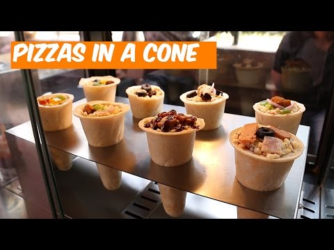 How To Make Pizzas In A Cone (Recipe)