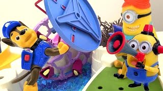 Щенячий Патруль онлайн! Герои мультфильма МИНЬОНЫ!  Игры с игрушками. Город миньонов разрушен!