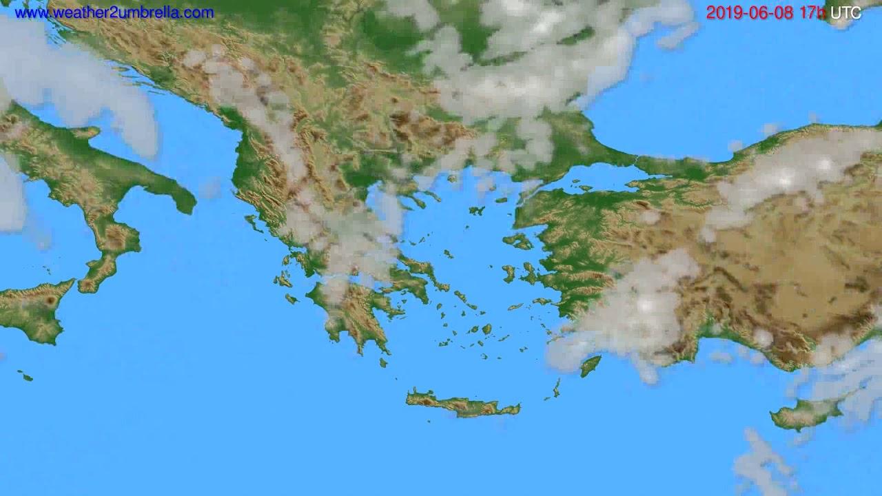 Cloud forecast Greece // modelrun: 00h UTC 2019-06-07