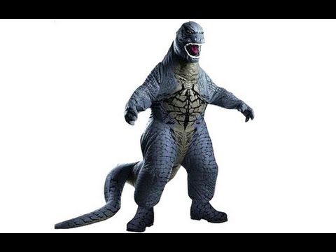 GODZILLA INFLATABLE COSTUME // Deluxe Adult